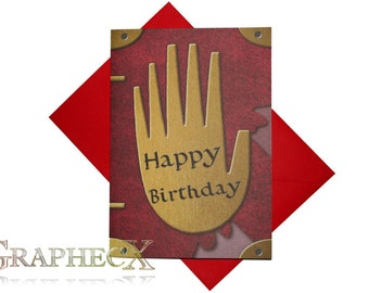 Fan-made Journal 3 Gravity Falls inspired personalized birthday card
