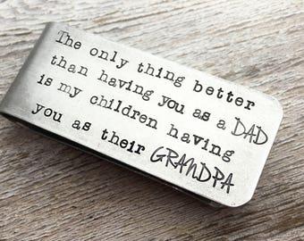 Father's Day Gift - Grandpa Money Clip -Personalized Money Clip-  Grandfather Gift -Aluminum Money Clip - Grandpa Present