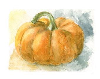 fall watercolor pumpkin pumpkin print pumpkin art halloween pumpkin patch - Pumpkin Pictures To Print