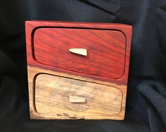 Two tone paduak bandsaw box