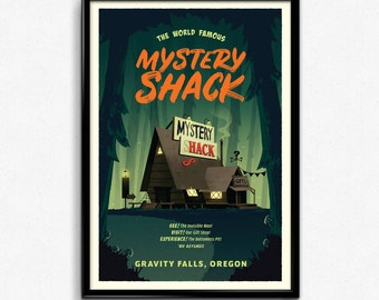 Gravity Falls - Mystery Shack Travel Poster Print