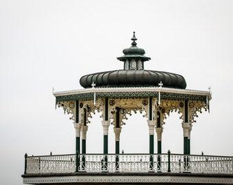 Brighton Photography - Seaside Bandstand Print - Vintage English Pavilion Art - Georgian England Photograph