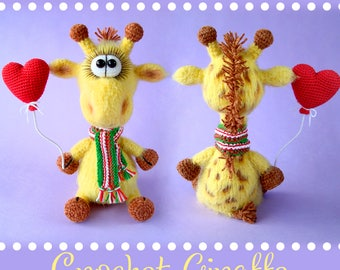 Amigurumi Crochet Pattern Giraffe