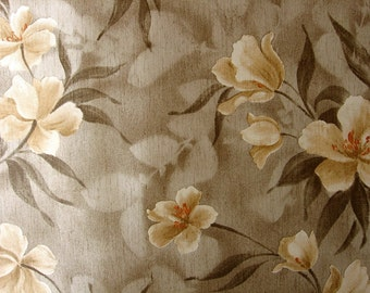 Vintage Wallpaper by the Metre late 70s Vinyl Retro Wallpaper -  Vinyl Wallcovering with Flowers | cas 132