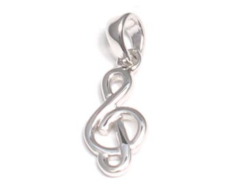 Clef pendant in 925 sterling silver