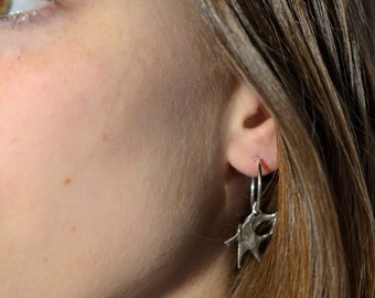 Oxidized 925 recycled Sterling Silver earrings
