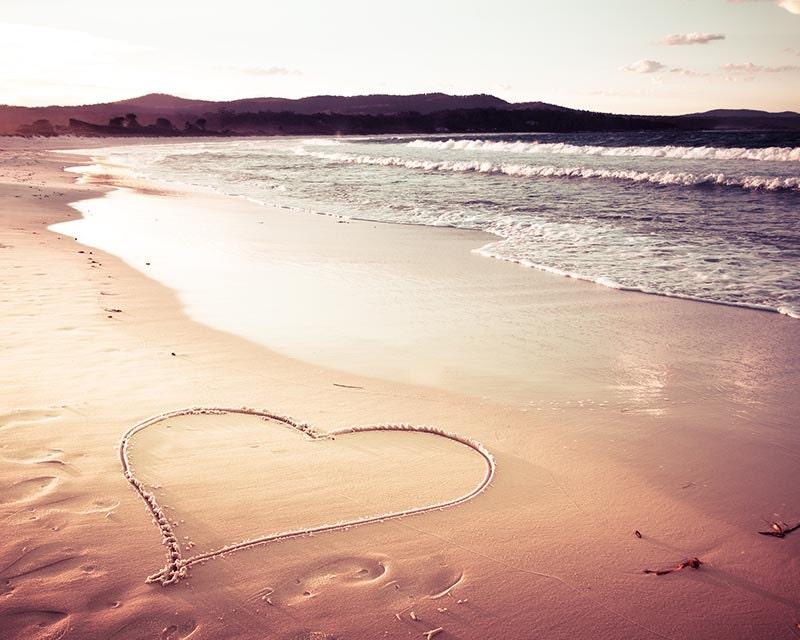 Beach Decor Nautical Heart Print Photography Coastal