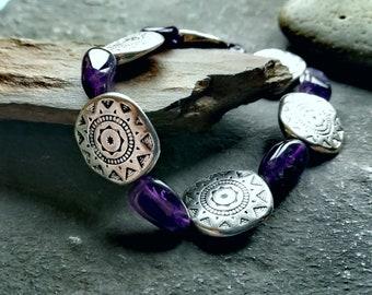 healing bracelet, Amethyst bracelet, energy bracelet