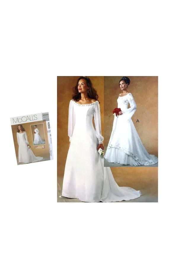 Misses Wedding Dress Pattern Bridal Dress Pattern McCall\'s 4300 ...