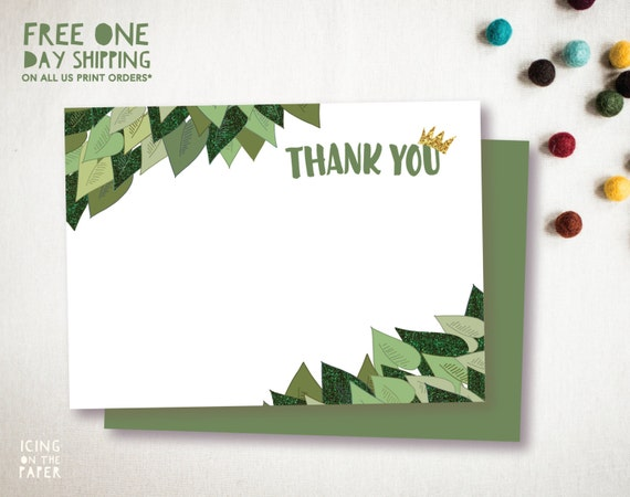 Green Glitter Where The Wild Things Are Thank You Note