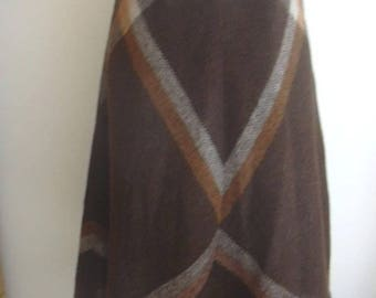 Liliane Burty Paris Brown Carmel Full 1970s -80s Skirt  UK 10 US 6