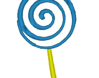 Lollipop Embroidery Design - Lollipop Applique Design - Lollipop Applique Embroidery Design 4x4 hoop, 5x7 hoop - Lollipop Machine Embroidery