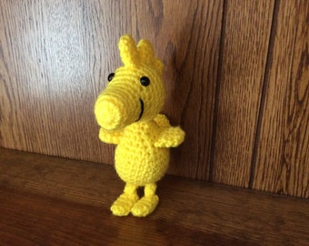 Crochet Woodstock stuffed animal