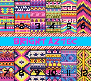 Printed Vinyl, Bright Aztec, Pattern Vinyl, Adhesive Outdoor 651 Vinyl, HTV, Heat Transfer Vinyl, Iron On, Design Vinyl, Aztec HTV, Chevron