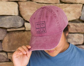 Personalized City Navigational Cap, Custom Cap, Ball Cap, Souvenir