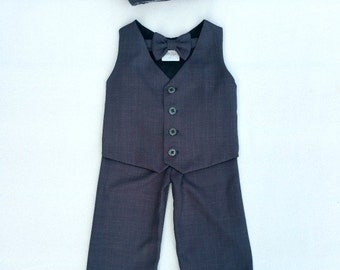 Ring Bearer Outfit, Baby Boy, Christmas Outfit, Toddler Suit, Suit for Wedding, Baby Wedding Outfit, Baby Wedding Suit, Baby Boy Suit