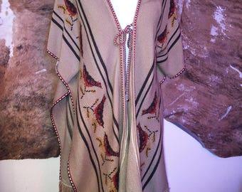 Bohemian Long Sparrow Tie Vest Poncho Sweater