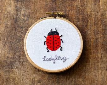Embroidery - bug / Ladybug