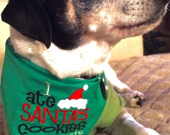 I Ate Santa's Cookies Christmas Dog Bandana