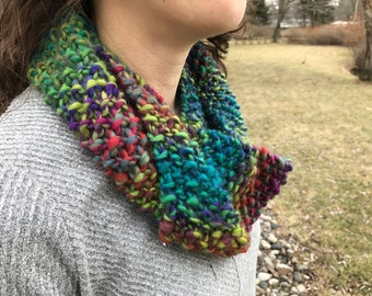 Knitted Jewel-Tone Cowl