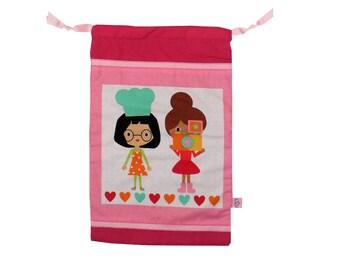 DrawString backpack / bag girl