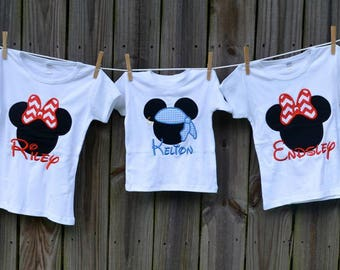 Personalized Pirate Mouse Applique Shirt or Bodysuit Boy or Girl