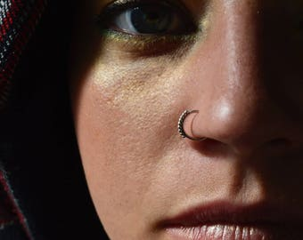 Nose Ring, christmas sale, Silver nose ring, tribal nose ring, nostril ring, 925 Silver nose hoop, Indian nose ring, septum