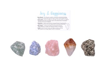 Joy & Happiness Crystal Set / Crystals For Happiness / Crystals For Joy / Crystals For Positivity / Crystal Gift Set / Healing Stones