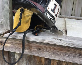 Firefighter Leather Chin Strap