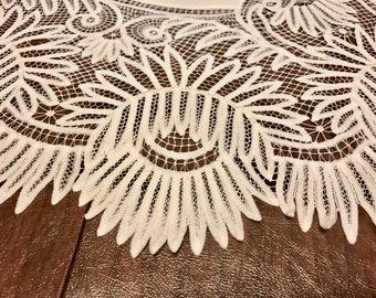 Chrysanthemum Tape Lace Doily