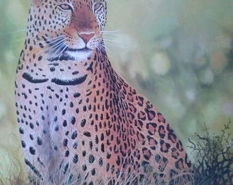 leopard painting,Canvas Wall hanging,Africa art,Home decor,Wall decor painting,,African wall hanging,Animal paintings,Living room decor