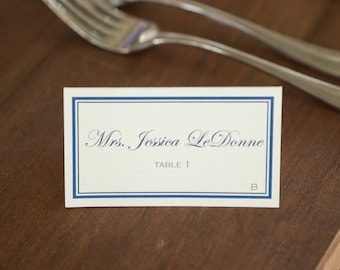 Classic, Tented Place Cards (Color), set of 25 FULLY CUSTOMIZABLE!