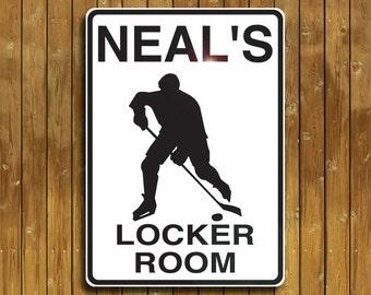 Personalized Hockey sign. Solid aluminum, custom made