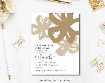 Pressed Wildflower Invitations