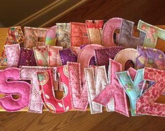 Fabric Alphabet Letters!