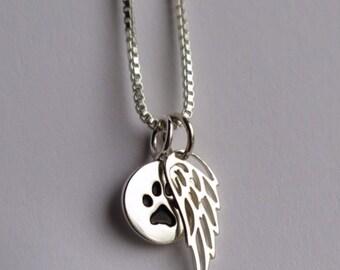 Pet Loss Jewelry - Pet Loss Necklace - Rainbow bridge pet loss necklace - Pet loss keepsake - Pet Loss Gift -  pet memorial - pet loss jewel