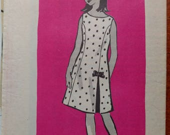 """Vintage Girl's Dress Pattern Size 10 Anne Adams Mail Order from """"The Oregon Journal"""