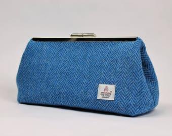 Clutch Bag / Clutch Purse / Gifts for Her / Handbag / Clutch / Bridesmaid Clutch / Harris Tweed / Blue Bag / Party Bag / Evening Clutch