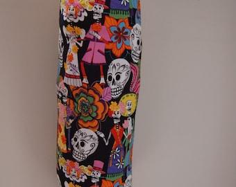 Reusable Plastic Bag Holder (Dia De Muertos, Mexican, Day of the dead, Dia de los muertos)