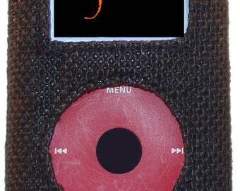 iPod Audio 4G Case, Made of Jute Burlap Hemp