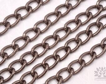 C450-GM// Matt Gunmetal Plated Light Chain, 50cm