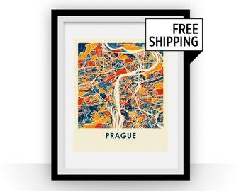 Prague Map Print - Full Color Map Poster