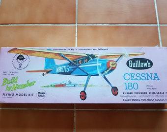 1970s Guillow's Cessna 180 Model Kit, Never Opened