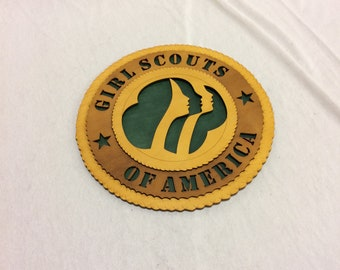 Girl Scouts Wall Plaque Wooden Model