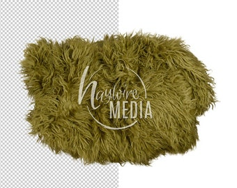 Newborn, Baby, Toddler, Child, Green Fur Transparent PNG Layer With Directions - Isolated Coverup Layer - Additonal File Needed