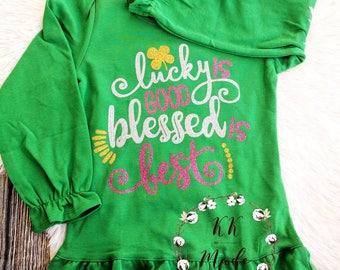 Kids Shamrock Shirt, Girls St Patricks Day Shirt, Kids Shirt, Trendy Shirts, Kids Graphic Tee, Toddler girl, Girls Shamrock Shirt