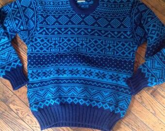 Vintage Men's Obermeyer Wool Sweater Size Medium
