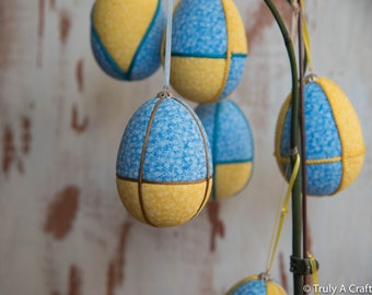 Fabric Easter Egg Fragrant Egg Easter Egg Easter Decorations Easter Egg Decor Easter Gift Prove Fabric Quilted Easter (set of 3)