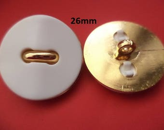 7 Buttons White 26 mm (941) button
