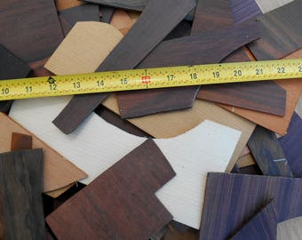 Big Box of Exotic Wood for craft projects, Guitar Wood Scraps for woodworking, jewelry supplies, ornaments, mahogany, rosewood, ebony